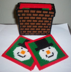 instant download of this pattern snowman coaster set pattern 504